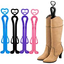 Foxnovo 35cm Plastic Long Boots Shaper Stretcher Shoes Supporter Stand Holder Hanger - 4 pcs/set (Random Color)