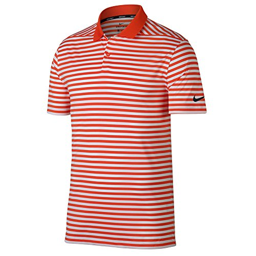 5f06ba422e7b Nike New DRI FIT Victory Stripe Golf Polo Team Orange/White/Black Large