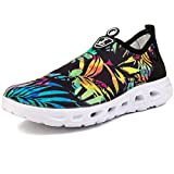 L-RUN Women's Slip on Water Shoes Comfortable Walking Shoes Jungle 8.5 B(M) US