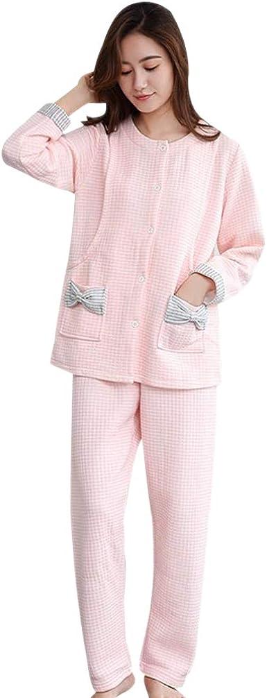 BOZEVON Mujeres Pijama de Lactancia Invierno Ropa - Un ...