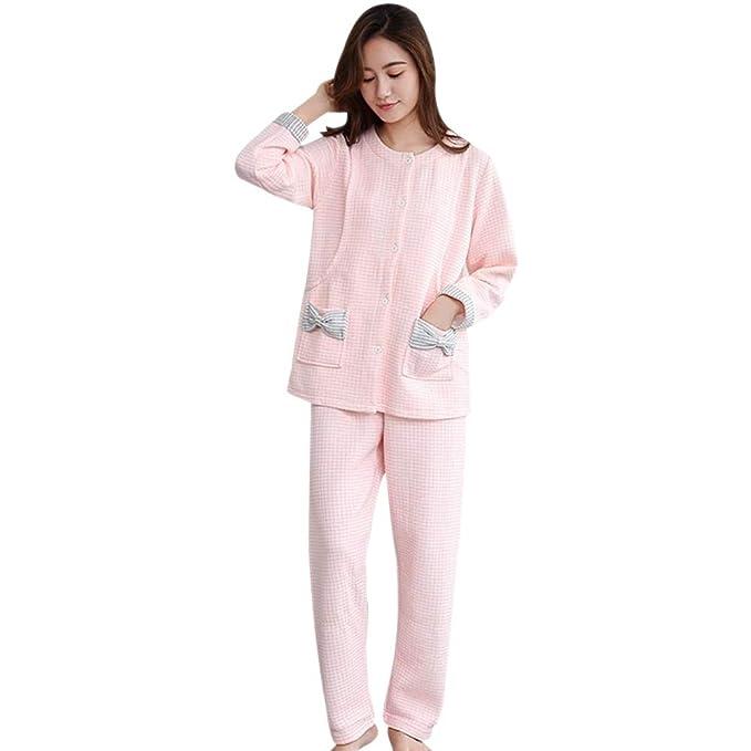 DAZISEN Pijamas de Alimentación de Maternidad para Mujeres ...