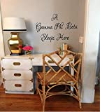 "Sorority Vinyl Wall Decal Mural With the wording ""A Gamma Phi Beta Sleeps Here"" 23""H x 28""W"