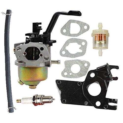 Butom Carburetor using Insulator Fuel filtration system path for DuroMax PowerMax XP3500 XP4400 XP4400-CA XP4400E XP4400E-CA MX4500 MX4500E 196CC 200CC 6.5HP 7HP Gasoline Generator great Cost
