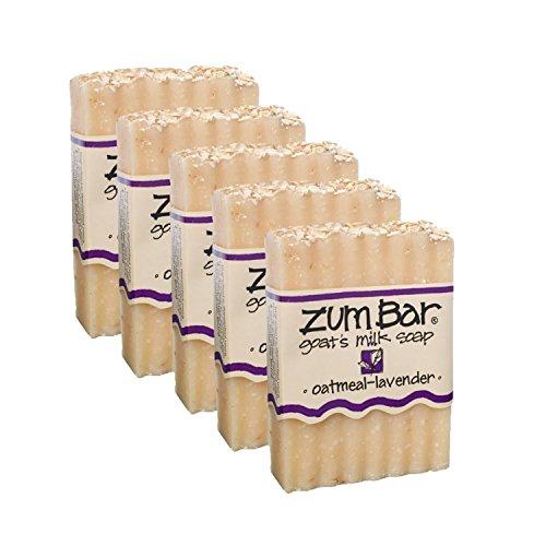 Goat's Milk Soap, Oatmeal & Lavender 3 oz (5 pack) (Lavender Oatmeal Soap)