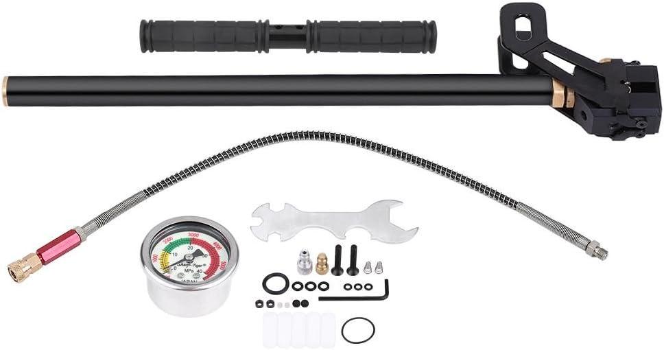 Bomba de mano 1 PC de 4500 psi Bomba de mano de 3 etapas de acero de tungsteno de alta presi/ón para bola de neum/ático de barco de pistola de aire comprimido PCP.