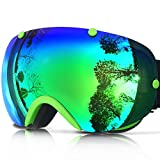 IceHacker Ski Goggles with Detachable Dual layer Lens Anti-fog UV Protection
