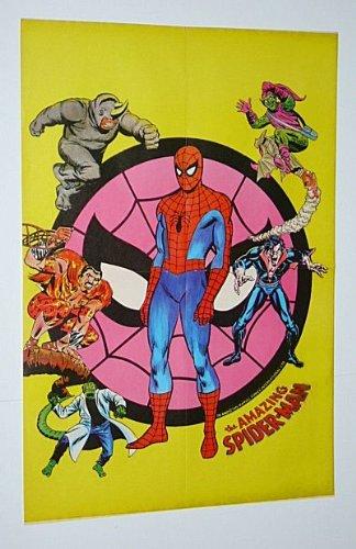1970s Amazing Spider Man Poster Rare Vintage Original 1975 Marvel