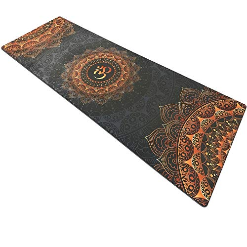 LNYJ Dark Printing Yoga Fitness mat Suede Rubber Non-Slip Health Yoga Flower mat Practice mat Workout Mat for Yoga Thick Yoga Mat Fitness