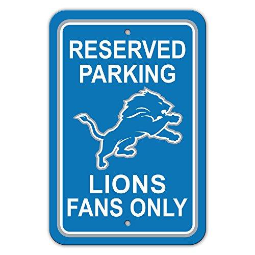 NFL Detroit Lions Plastic Reserved Parking Signnfl Plastic Parking Sign, Blue,