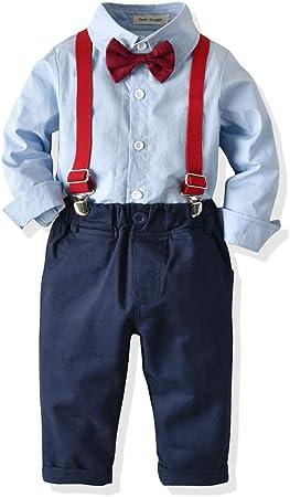 PUJIANGxian BoyVarious Niño del Algodón Camisa De Vestir De Manga Larga Monos Hankie (Color : Blue, Size : 90cm): Amazon.es: Hogar
