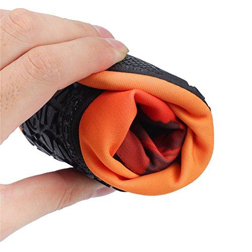 JIASUQI Damen und Herren Sommer Outdoor Wasserschuhe Aqua Socken für Beach Swim Surf Yoga Übung Orange / Laufen