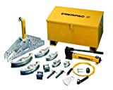 "Enerpac STB-101A Hydraulic Pipe Bender Set for 1/2"" to 2"" OD Pipe, Air-Drive Hydraulic Pump"