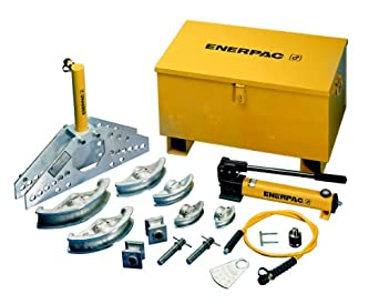 """Enerpac STB-202B Hydraulic Pipe Bender Set for 1-1/4 to 4"""" OD Pipe, Electric-Powered Hydraulic Pump"""
