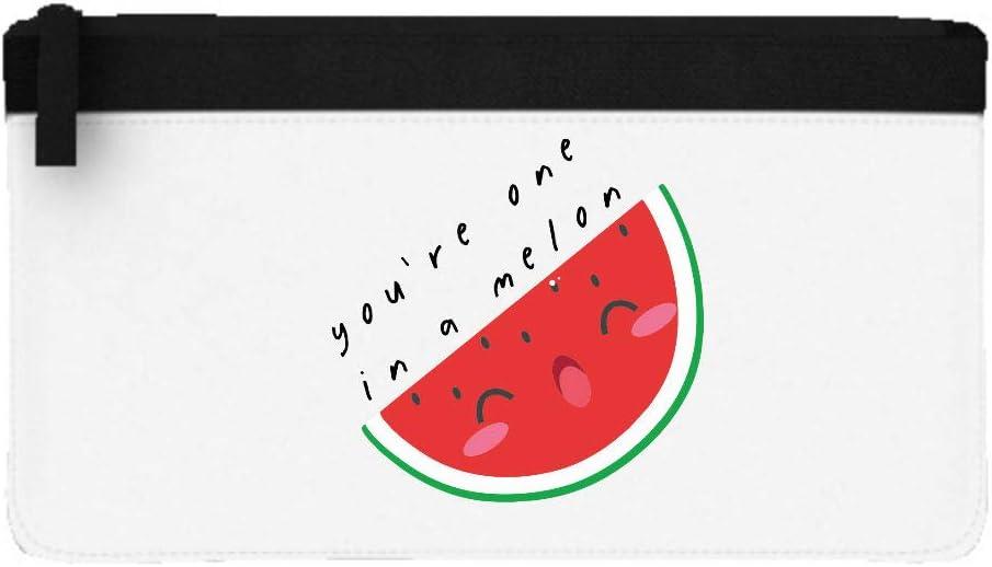 Youre One in A Million Melon - Estuche plano para lápices, diseño de fruta y verdura, color negro talla única: Amazon.es: Oficina y papelería