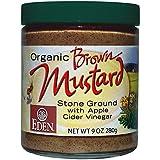 Organic Brown Mustard - 9 Oz. Glass Jar (Pack of 1)