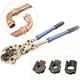 "IWISS® IWS-1632AF Plumbing Copper Crimper PressTube Tools with 1/2"" 3/4"" 1"" Jaws Suitable for Viega, Pro-Press,Elkhart, Conex Pipe Fittings"