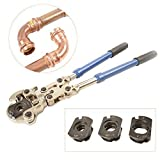 IWISS IWS-1632AF Plumbing Copper Pipe Crimper Press Tube Tools with 1/2'' 3/4'' 1'' Jaws Suitable for Viega Copper Only, Pro-Press,Elkhart, Conex Pipe Fittings
