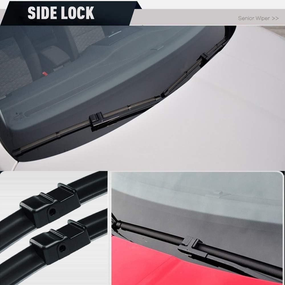 Set of 2 Front Windshield Wiper Blades Fits for BMW 3-Series 2-Door E92 E93 328i 328i xDrive 328xi 335i 335i xDrive 335xi M3 2007-08//2009-24+18 Side Lock 19mm