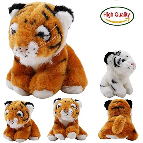 Minian Cute 15cm Tigers Plush Toys   Simulation Tigers Soft Stuffed   Dolls Baby Pillow Plush Kid Toys for Children (White) -