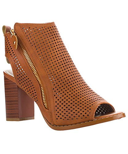 Womens Leatherette Perforated Sandals Closure product image