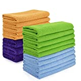18 Pack CleaningRags towels kitchen ClothsforCleaningCounters Microfiber Window Car Cleaning Cloth for Glass Dish Screens Highly Absorbent No Fabric Soft 12x16 inches