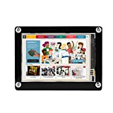 Fosa 1080P IPS 60fps 3.5 inch HDMI LCD Screen Display for Raspberry Pi + Black Acrylic Case