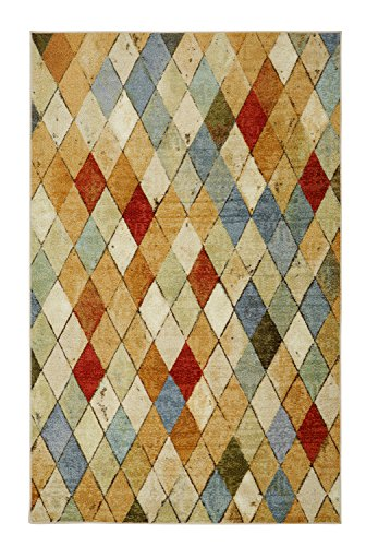 Mohawk Home Strata Argyle Geometric Printed Area Rug, 5'x8', Multicolor