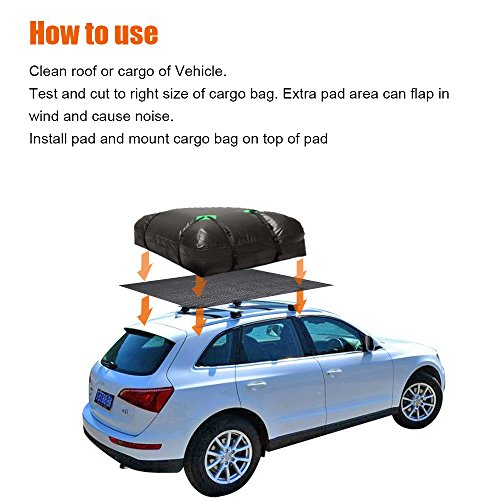 Life-Mate Car Roof Cargo Carrier Protective Mat Anti Slip Roof Rack Pad with Extra Padding for Cargo Storage Bags Roof Top Carriers. by Life-Mate (Image #4)