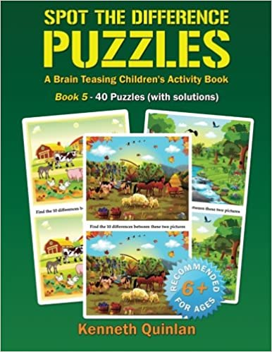 Spot the Difference Puzzles - Book 5: A Brain Teasing Children's Activity Book: Volume 5