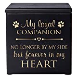 Cremation Urns for Pets SMALL Memorial Keepsake box for Dogs and Cats, Urn for pet ashes My loyal Companion No longer by my side but forever in my heart Holds SMALL portion of ashes (Black)