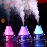 Owill Creative Mini Iceberg Shape Humidifier Colorful Night Light Office Household Air Atomizer