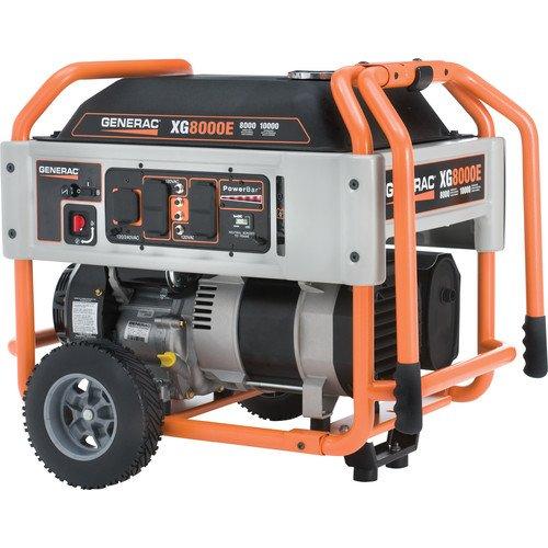 Generac 5747, 8000 Running Watts/10000 Starting Watts, Gas Powered Portable Generator (5800 Series Single)