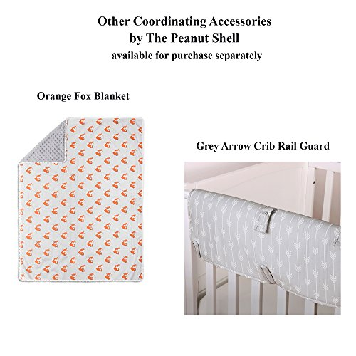 Grey and Orange Woodland Friends 3 Piece Crib Bedding Set by The Peanut Shell by The Peanut Shell (Image #7)