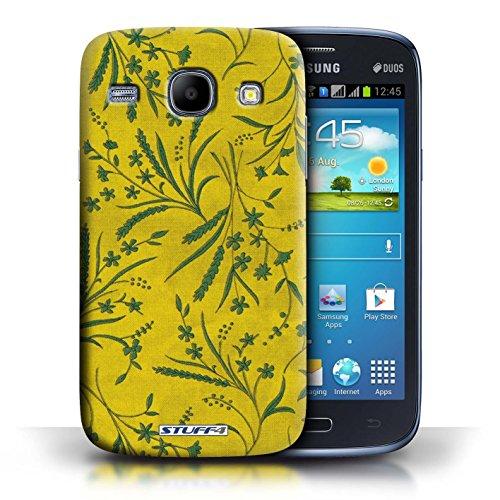 Kobalt® Imprimé Etui / Coque pour Samsung Galaxy Core / Jaune/Vert conception / Série Motif floral blé