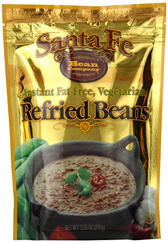 Santa Fe Bean Co., Instant Fat Free Vegetarian Refried Beans, 7.25-Ounce Pack (Pack of 8) (Instant Bean)