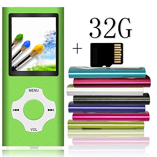Tomameri - Portable MP3 / MP4 Player with Rhombic Button, Including a Micro SD Card and Support Up to 64GB, Compact Music, Video Player, Photo Viewer Supported - Green (Ipod Mp3 Player Green)
