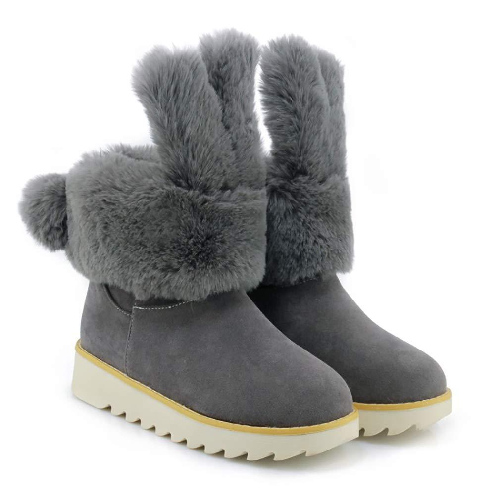 Hy Frauen Stiefelies Wildleder Winter dicken Boden Schneeschuhe Winter Low Top Casual Winter Schneeschuhe Stiefel Damen Große Größe Plus Thick Outdoor Ski Schuhe (Farbe   C Größe   36) b1d8cf