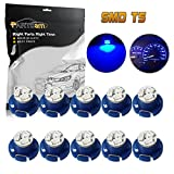 dash board 2001 dodge ram 1500 - Partsam T5 T4.7 Neo Wedge Instrument Dashboard LED Light Bulbs 12mm 12V 3-SMD A/C Climate Heater Controls Instrument Panel Gauge Cluster Dashboard LED Light Bulbs Set – Blue (Pack of 10)