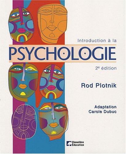 Introduction    La Psychologie  French Edition