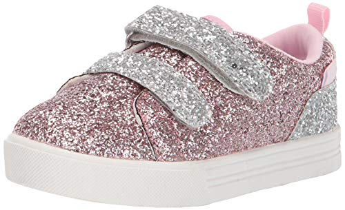 OshKosh B'Gosh Lyric Girl's Glittery Casual Slip-on Sneaker Rose 12 M US ()