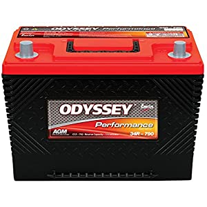 Odyssey Battery 0750-2060 Performance Powersport Battery 792 CCA Group 34R/Group 24F w/Spacer Group 27V w/Spacer w/SAE Reverse Terminals Performance Powersport Battery
