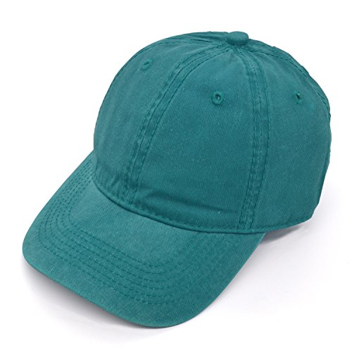 PT FASHIONS 100% Cotton Dad Hat Unisex Washed Twill Cotton Baseball Cap Low Profile Polo Style Unconstructed-01Aqua ()