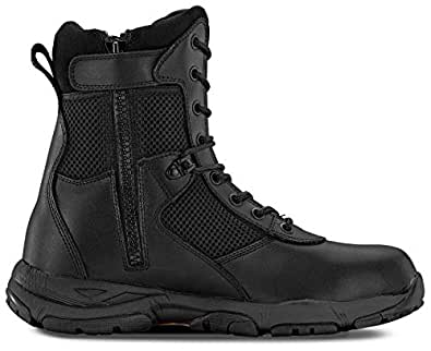 Maelstrom LANDSHIP 2.0 8'' Men's Black Tactical Boots With Zipper – Military, Work & Tactical Boots – Athletic, Breathable, Durable, Comfortable & Lightweight Boots For Men, Black, Size 8.5W