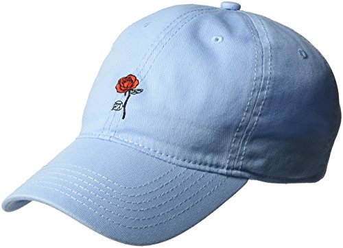 Disney Women's Belle Rose Beauty and The Beast Baseball Cap, 100% Cotton, Light Blue, One Size