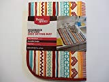 Better Homes and Gardens Graphic Stripe Dish Drying Mat - Extra Large and Reversible