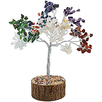 Harmonize Spiritual Feng Shui Reiki Healing Stone Multi - Stone Tree Table Decor