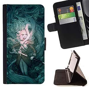"""For Samsung Galaxy J3(2016) J320F J320P J320M J320Y,S-type Misterio juego Fairytale Espada Pc"""" - Dibujo PU billetera de cuero Funda Case Caso de la piel de la bolsa protectora"""
