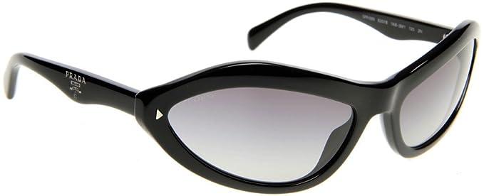 9257e440e0285 Image Unavailable. Image not available for. Color  Prada PR05NS Sunglasses-1AB 3M1  Gloss Black (Gray Gradient ...