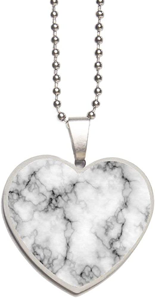 Marble Pattern Necklace Personalized Engraved Heart Custom Gift Pendant-Valentines Day Love