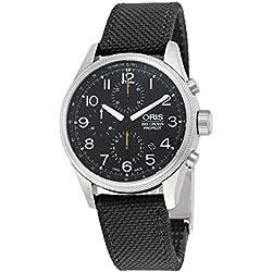 Oris Big Crown ProPilot Chronograph Black Dial Black Leather Mens Watch 774-7699-4134BKFS